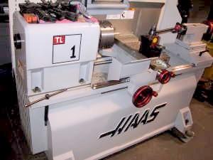 2005 haas tl-1 cnc lathe 16in x 30 in cc 8 in ch control.