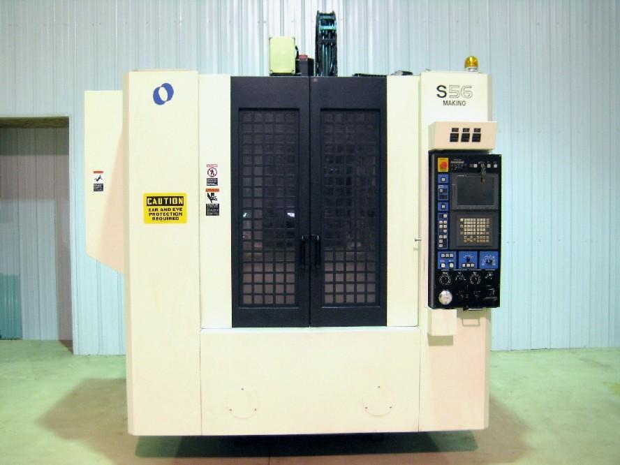 cnc vertical machining centers makino s56 cnc mill fanuc pro 3 rh mwmachinery com Makino USA Makino A61