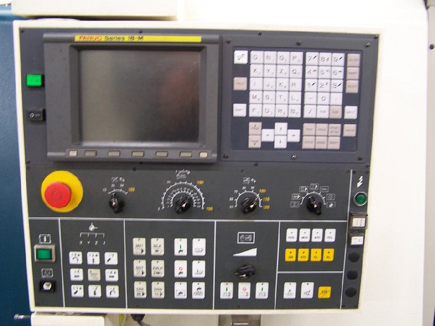 cnc vertical machining centers hardinge vmc 1000 ii apc fanuc 18m rh mwmachinery com Fanuc Training Fanuc Robotics Logo