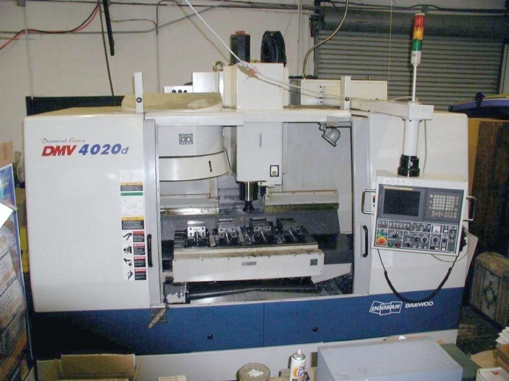 Cnc Vertical Machining Centers Doosan Daewoo Dmv 4020 Cnc