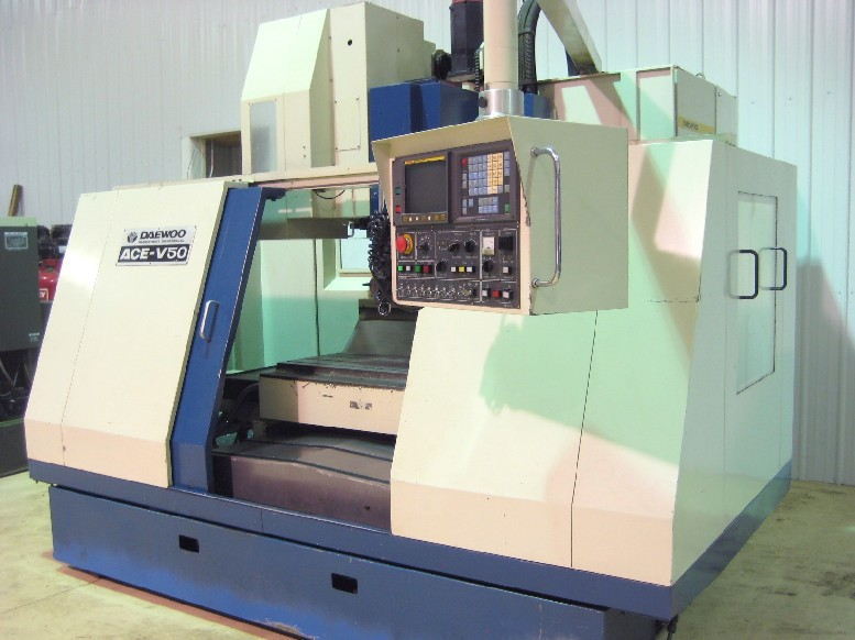 Cnc Vertical Machining Centers Daewoo Ace V50 Cnc Mill