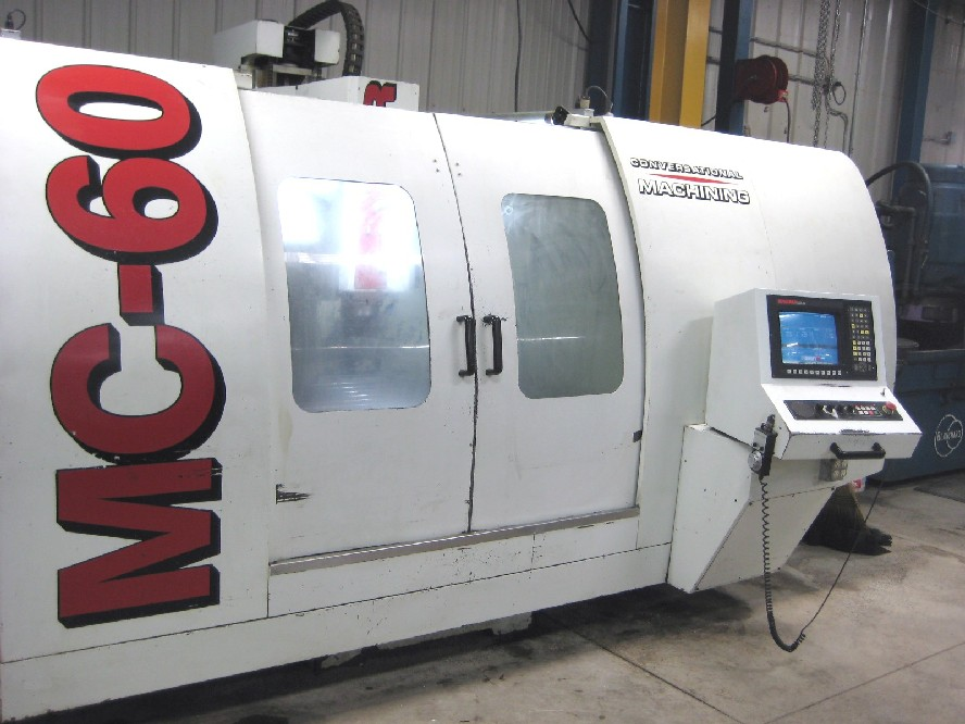CNC VERTICAL MACHINING CENTERS: FRYER MC-60 CNC MILL, 60 x