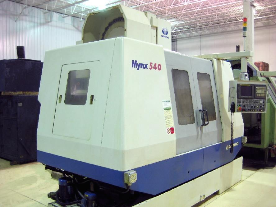 Cnc Vertical Machining Centers Daewoo Mynx 540 Cnc Mill