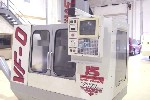 CNC VERTICAL MACHINING CENTERS: HAAS VF-0 CNC MILL, HAAS CNC, 20 x 16 x 20, 7500 RPM, RIGID TAP, AUGER, 4TH WIRED, '97 (4430), Click to view larger photo...