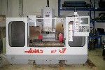 CNC VERTICAL MACHINING CENTERS: HAAS VF-3 CNC MILL, 40 x 20 x 25, 10 HP, 7500 RPM, 4TH PREWIRE,  '94 (4666), Click to view larger photo...